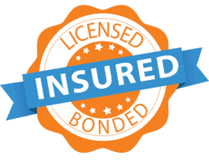 licensed, insured, and bonded badge